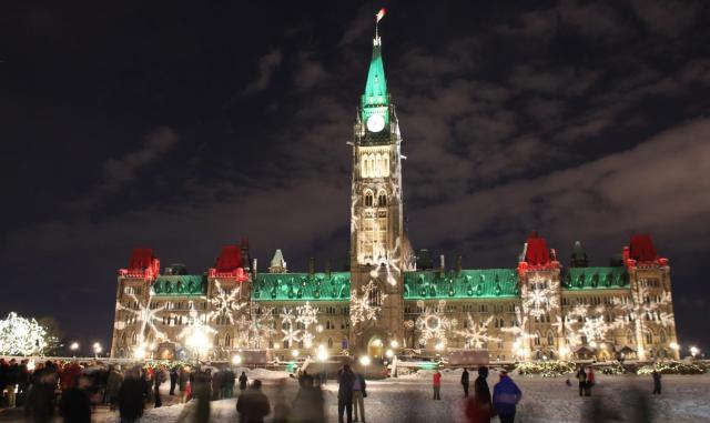 Parliament Hill on December 31st, 2012