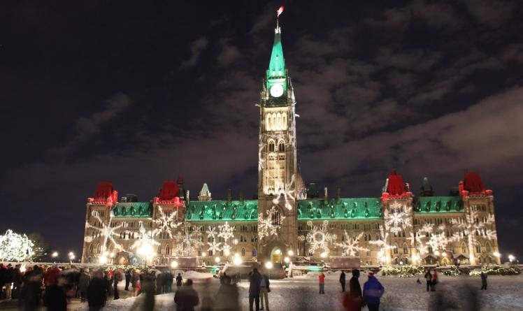 Parliament Hill on December 31st, 2012