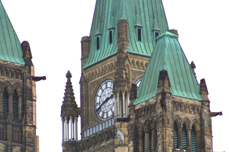 Telephoto Lens viewing the Peace Tower from the North