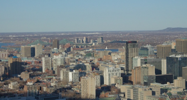 View looking towards the East from Mount Royal.