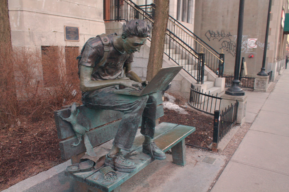 New Sculpture on Sherbrooke.