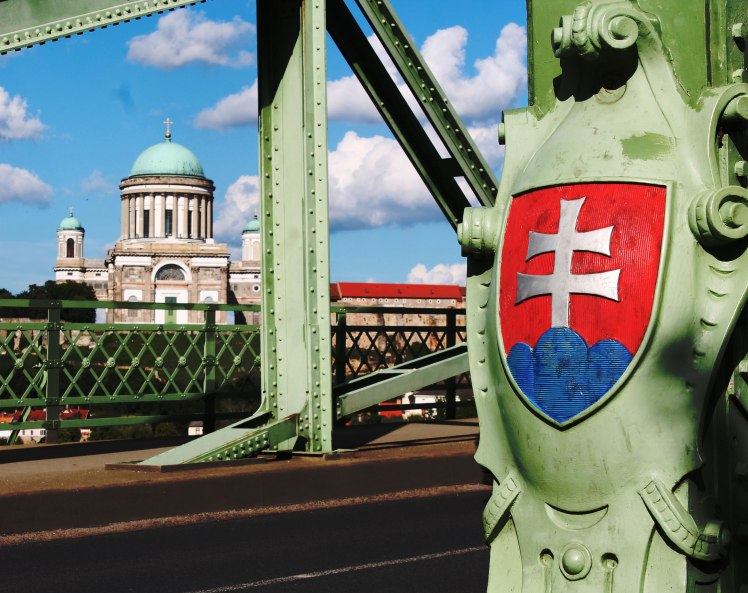 On the Slovak side of the bridge.