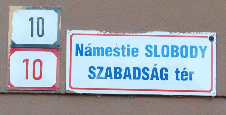 Bilingual street signs
