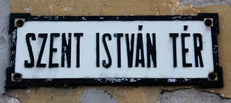 Saint Stephen Square. There is likely one of these in every Hungarian town.