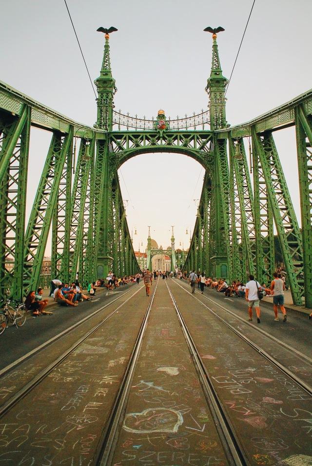 Liberty Bridge Open to Pedestrians Only