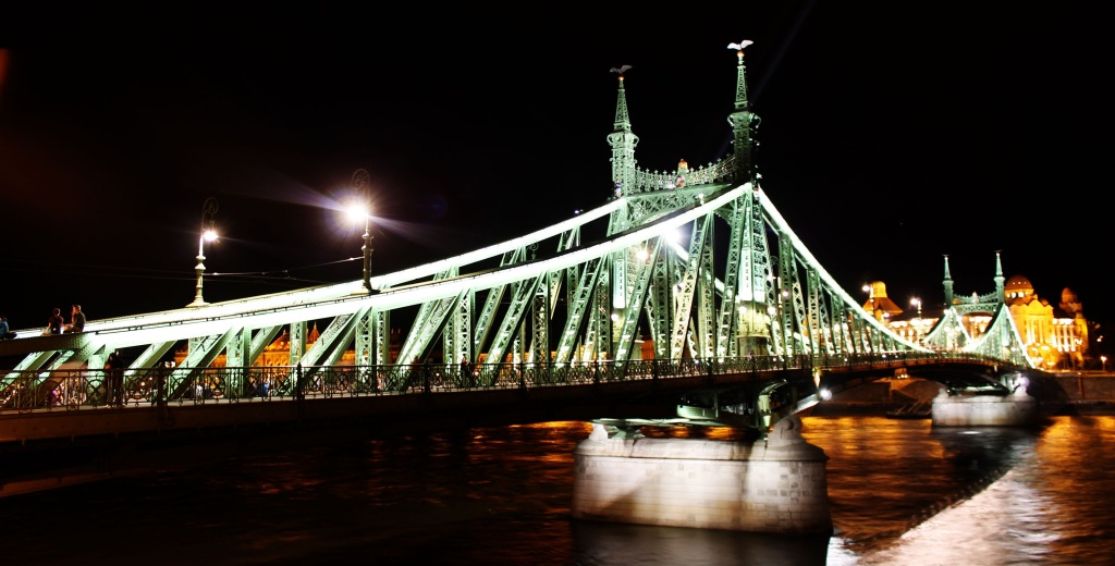 Liberty Bridge at Night