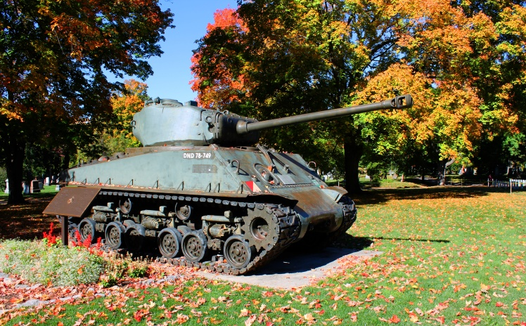A Sherman Tank at the Military Cemetery